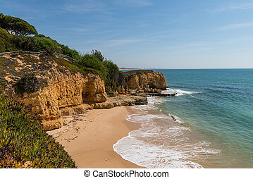 Albufeira, South Portugal. - Golden beaches and sandstone...