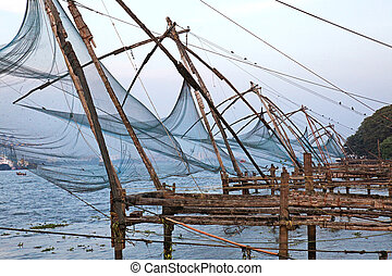 Chinese Fishing Nets Kochi Kerala - Chinese fishing nets in...