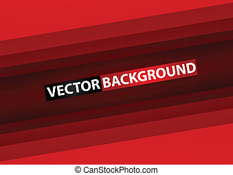 Abstract red rectangle paper background, VECTOR, EPS10