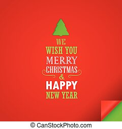 Merry Christmas and a happy New Year greeting car