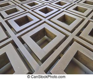 metallic abstract pattern, strong bokeh