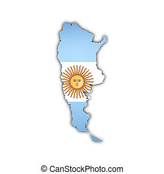 map of argentina -  map of argentina with flag