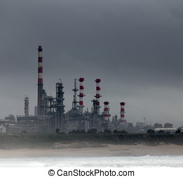 Oil refinery - Part of a big oil refinery and powerplant...