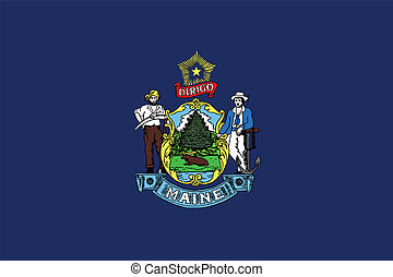Maine State Flag - The flag of the US state of Maine