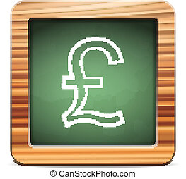 blackboard british pound - Blackboard british pound on a...