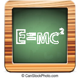 blackboard formula - Blackboard formula on a white...