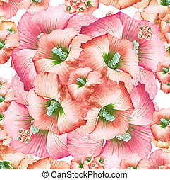 Decorative Floral Pattern - Digital art technique feminine...