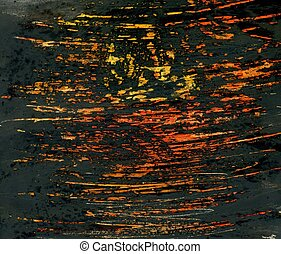 Colorful Strokes - Abstract colorful strokes on dark texture...
