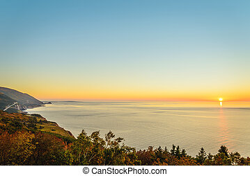 Cabot Trail at sunset