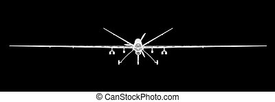 Unmanned Aerial Vehicle UAV , body structure, wire model