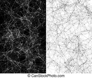 Digital background with cybernetic particles - Abstract...