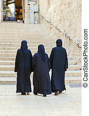 nuns walking down the street - JERUSALEM/ISRAEL - 20...