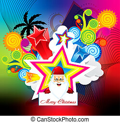 abstract christmas explode background