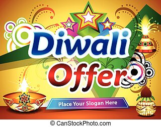 diwali offer background vector illustration
