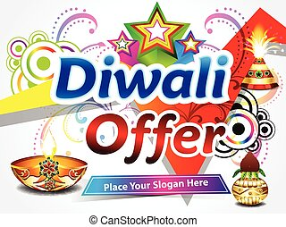 diwali sale background vector illustration