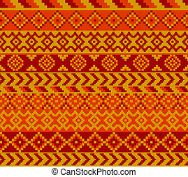 geometrical pattern - cozy pixel styled patern painted with...