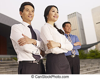 asian businesspeople - portrait of asian business team.