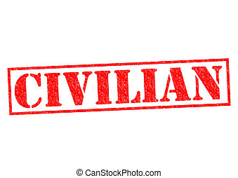 CIVILIAN red Rubber Stamp over a white background