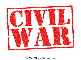 CIVIL WAR red Rubber Stamp over a white background