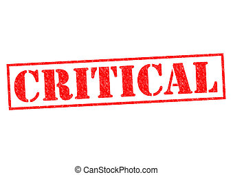 CRITICAL red Rubber Stamp over a white background.