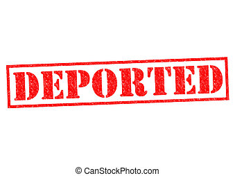 DEPORTED red Rubber Stamp over a white background