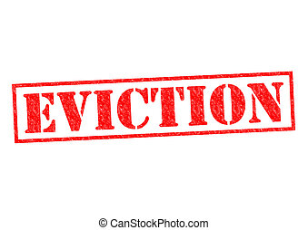 EVICTION red Rubber Stamp over a white background