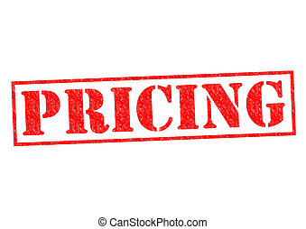 PRICING red Rubber Stamp over a white background