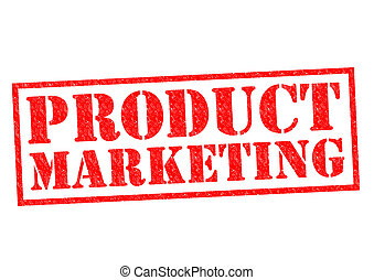 PRODUCT MARKETING red Rubber Stamp over a white background.