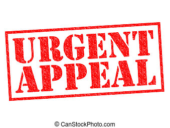 URGENT APPEAL red Rubber Stamp over a white background