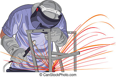 vector StructureWelding - vector Illustration of worker that...