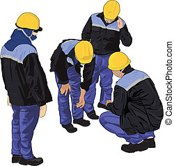vector TeamWorker - vector Illustration of worker that...