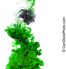 Green ink isolated on white background - Studio shot of...