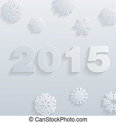 Vector 2015 Happy New Year background in Typography style