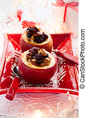 baked apples - Baked apples stuffed with nuts and dried...
