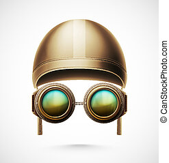 Accessories Pilot - Accessories pilot (helmet and glasses),...