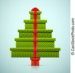 Christmas Tree of Gifts - Christmas tree of gifts, eps 10