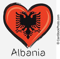 love Albania flag