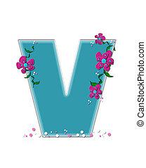 Alphabet Fairy Tale Garden V - The letter V, in the alphabet...