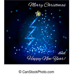 Card with a Christmas song and greeting Merry Christmas and...