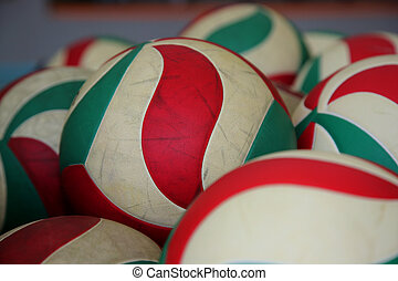 The volleyball balls
