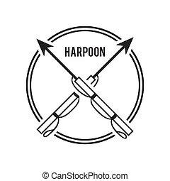 harpoon design - harpoon graphic design , vector...