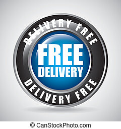 free delivery design - free delivery graphic design , vector...