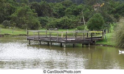 Dock, Deck, Pier, Pond, Lake