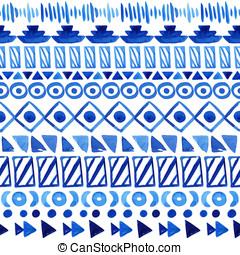 Seamless, azteca, pattern.,