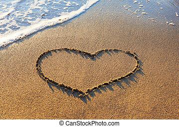 corazón, arena