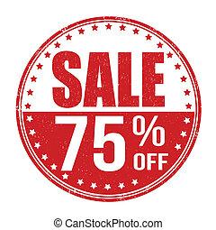 Sale 75% off stamp - Sale 75% off grunge rubber stamp on...
