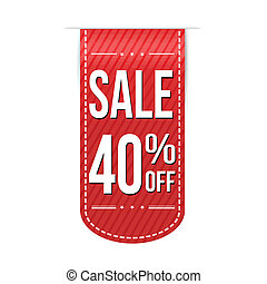 Sale 40% off banner design over a white background, vector...