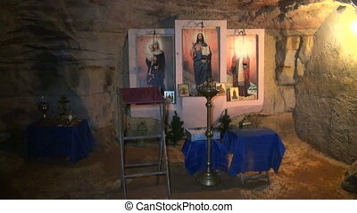 The Orthodox temple, the Church in the underground cave.