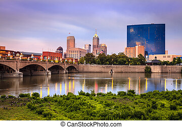 Indianapolis - Beautiful view of Indianapolis skyline and...