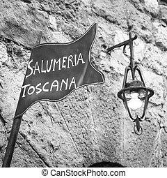 Tuscany butchery - Tuscany, Italy. Traditional butchery...